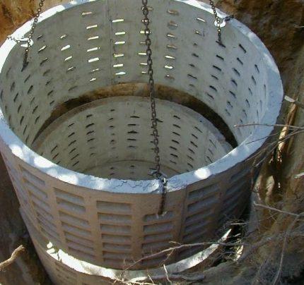 Бетонные кольца для выгребной ямы
