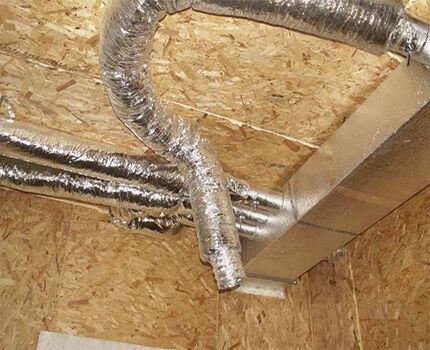 Система потолочных воздуховодов