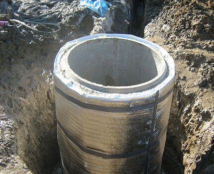 Утепление бетонного кессона снаружи
