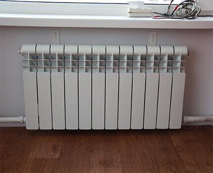 Подключение радиатора отопления при однотрубной схеме