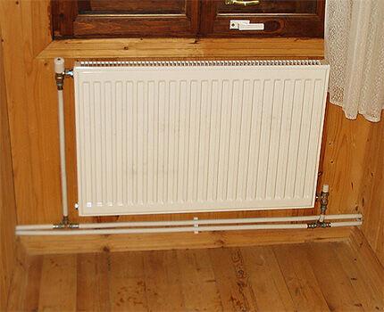Диагональное подключение радиатора при двухтрубной схеме