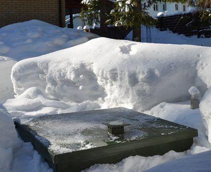 Рабочий септик в зимнее время
