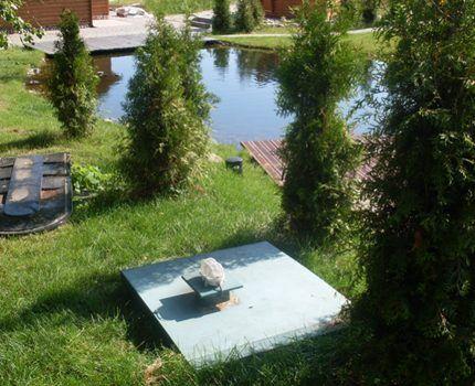 Септик рядом с водоемом