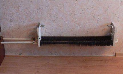 Старый отопительный радиатор