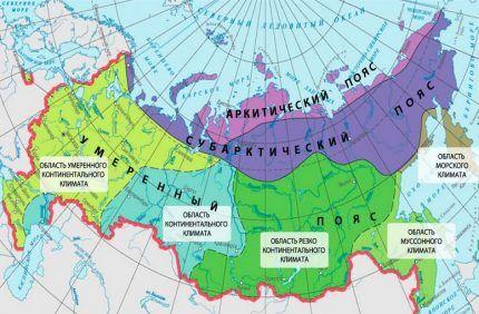 Карта распределения