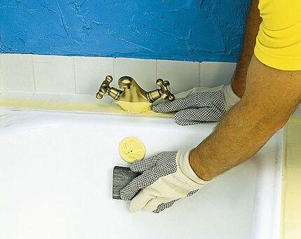 Как подготовить чугунную ванну к окрашиванию