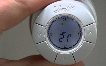 Электронный термостат для батарей