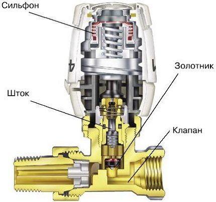 Строение терморегулятора