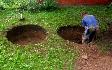 Ручной способ рытья ямы