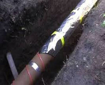 Электрический кабель для обогрева труб