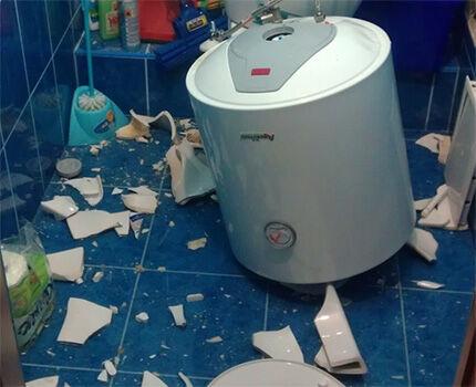 Последствия падения нагревателя со стены