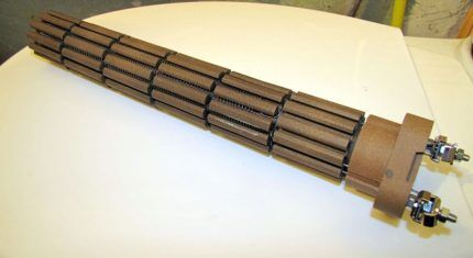 Внутреннее устройство сухого нагревателя