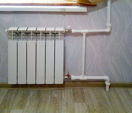 Байпас радиатора вертикальной разводки