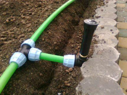 Водопровод на даче своими руками как выбрать трубы схемы способы укладки