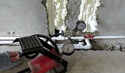 Вариант насоса для выполнения своими руками опрессовки системы отопления