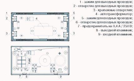 Схема, прилагаемая производителем