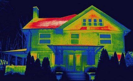 Дом через тепловизор