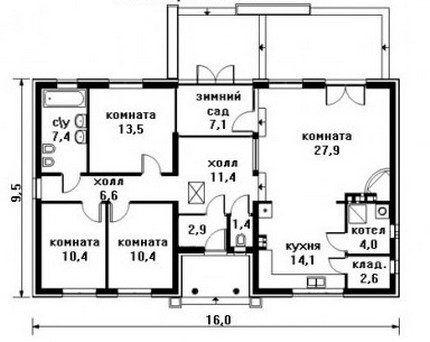 План-схема дома