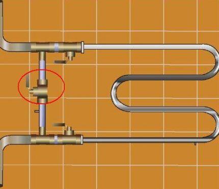 Как установить полотенцесушитель с байпасом