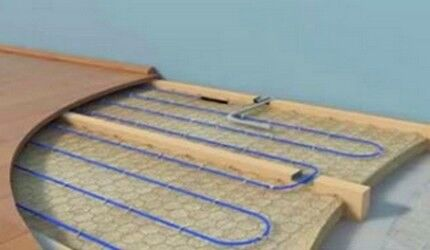 Схема сооружения каркаса из лаг
