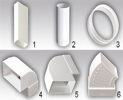 Фасонные элементы из пластика набор 1