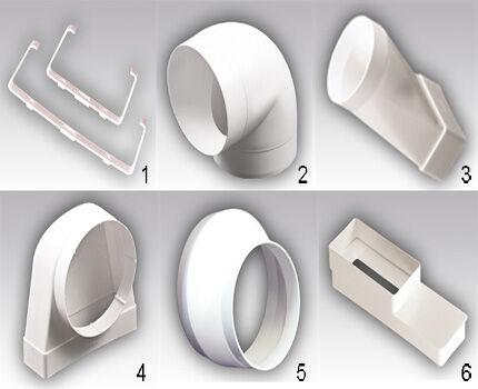 Фасонные элементы из пластика набор 2
