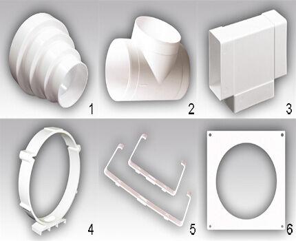Фасонные элементы из пластика набор 3