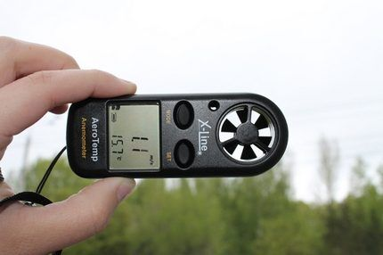 Типичный анемометр