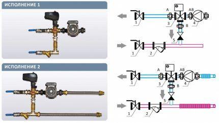 Варианты обвязки водяных калориферов для приточной вентиляции