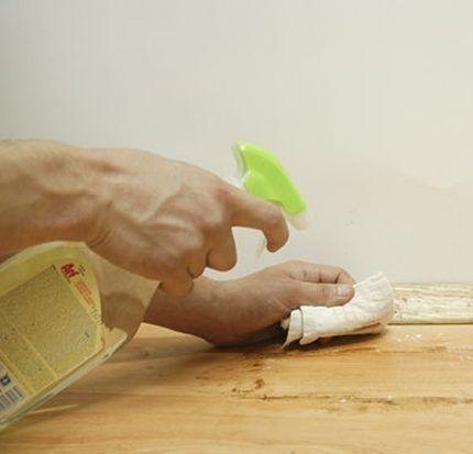 Как отбелить срубы дерева своими руками