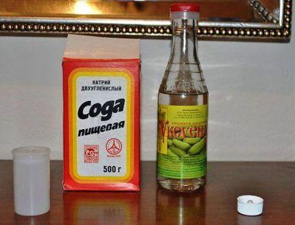 Сода и уксус против плесени