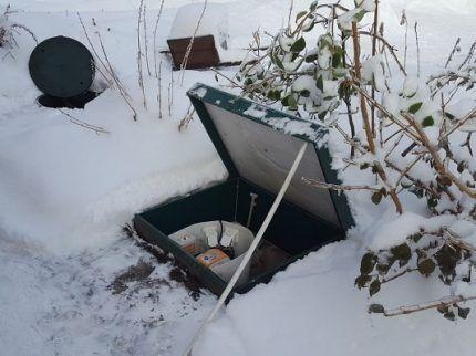 Консервация на зиму очистной установки