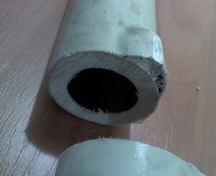 Дефекты пластиковых труб