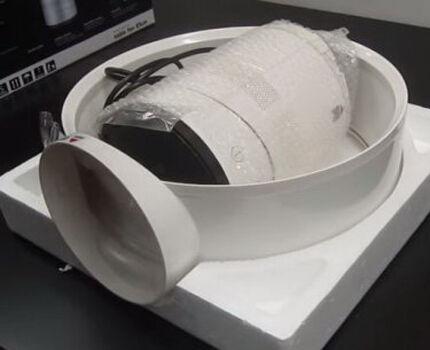 Комплектация безлопастного вентилятора