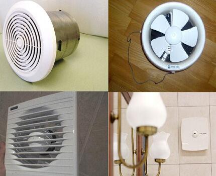 Модели вытяжных вентиляторов