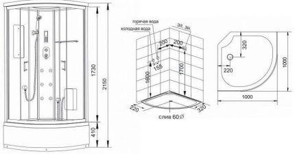 Схема сборки кабинки