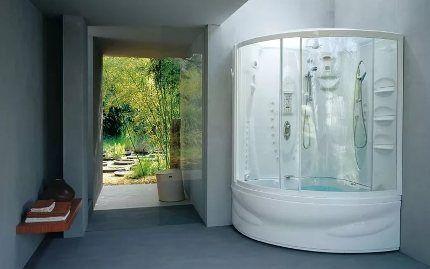 Угловая душ-кабина