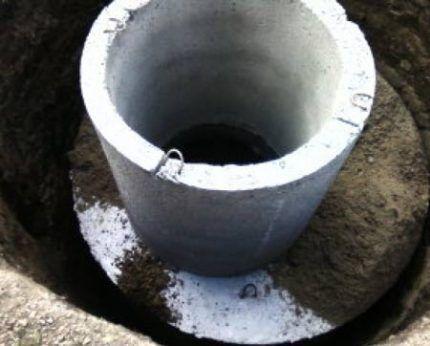 Откопка бетонных колец