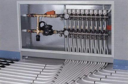 Шкаф для установки коллектора теплого пола
