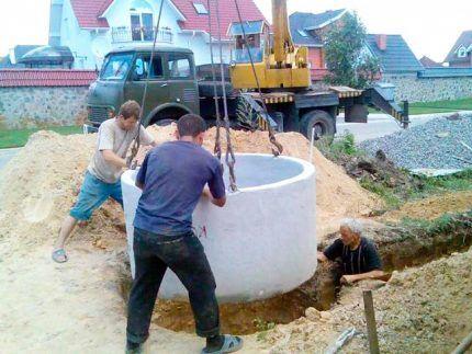Монтаж бетонных заготовок