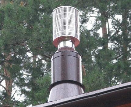 Дефлектор с искрогасителем
