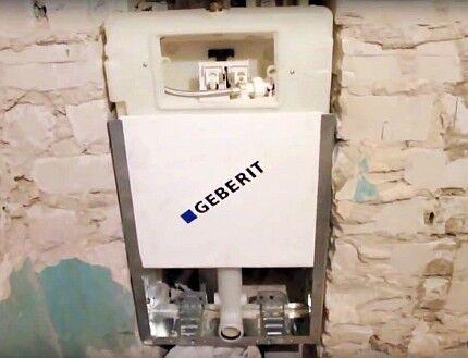 Блочная инсталляция для установки унитаза
