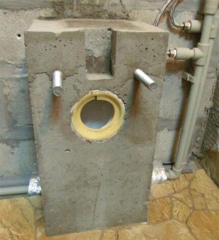 Бетонная заливка канализации и опорных стержней