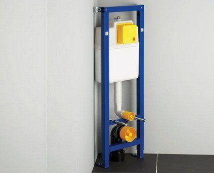 Угловая рамочная инсталляция для унитаза