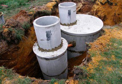 Монтаж бетонных резервуаров