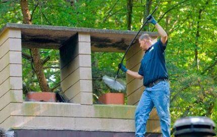Обслуживание керамического дымохода