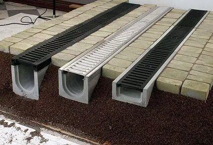 Лотки для устройства ливневой канализации