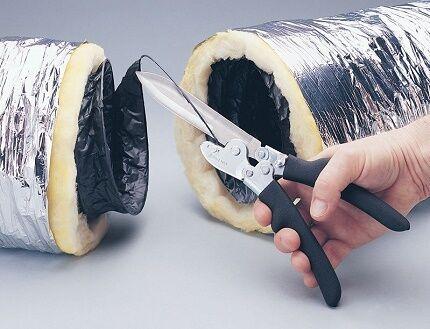 Изолированный гибкий воздуховод для монтажа вентиляции