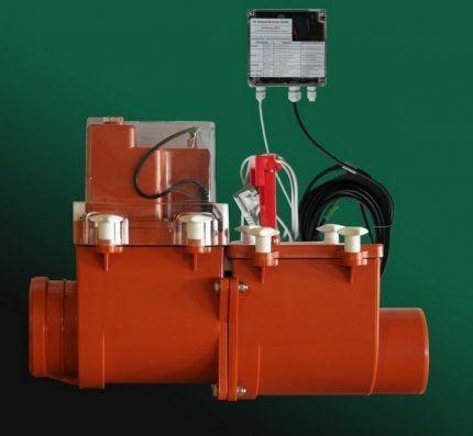 Запорное устройство с электродвигателем