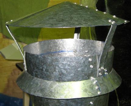 Самодельный дефлектор на вентиляцию канализации